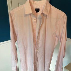 H&M men's shirt, M, Slim Fit in Pink